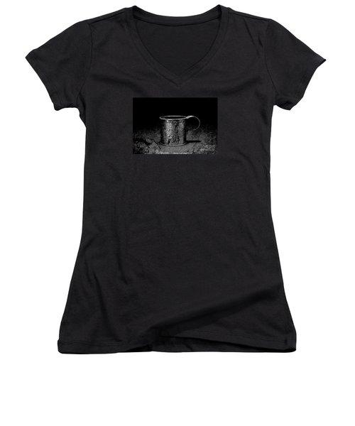 Tin Cup Chalice Women's V-Neck T-Shirt (Junior Cut) by John Stephens
