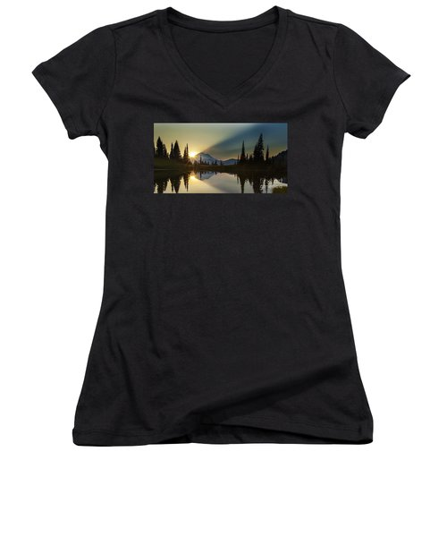 Tipsoo Rainier Sunstar Women's V-Neck T-Shirt