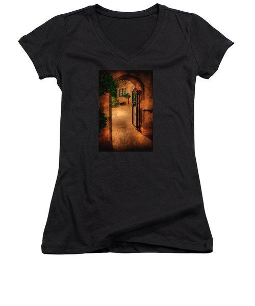 Tlaquepaque Women's V-Neck T-Shirt (Junior Cut) by Priscilla Burgers