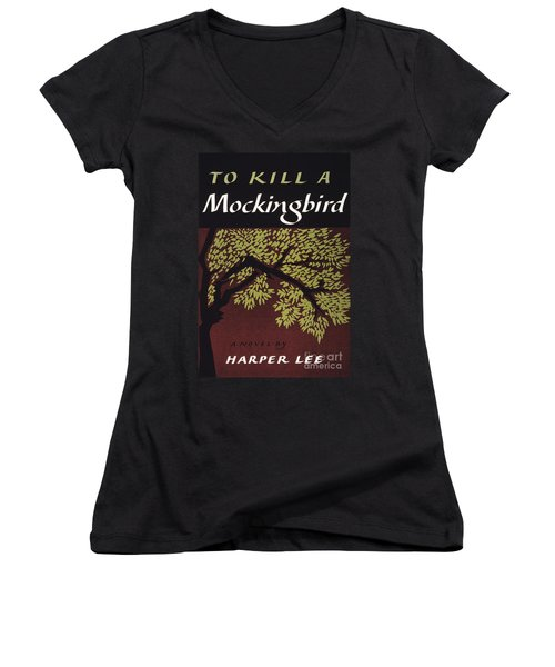 To Kill A Mockingbird, 1960 Women's V-Neck T-Shirt (Junior Cut) by Granger