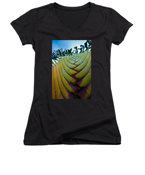 Women's V-Neck T-Shirt featuring the photograph To The Sky by Sebastian Musial