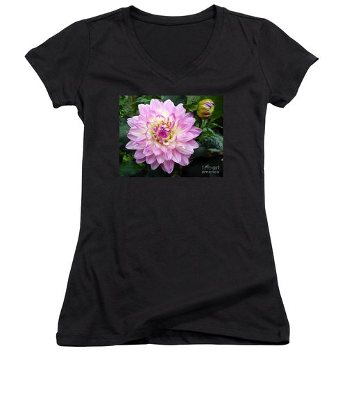 Today And Tomorrow Women's V-Neck T-Shirt (Junior Cut) by Sami Martin
