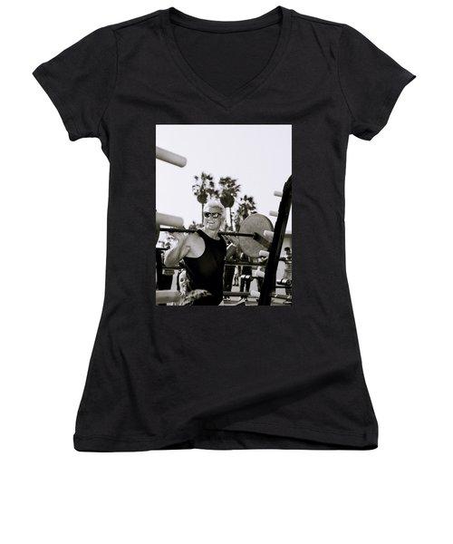 Tom Platz In Los Angeles Women's V-Neck T-Shirt