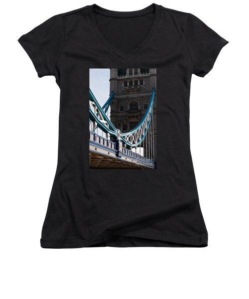 Tower Bridge 03 Women's V-Neck (Athletic Fit)