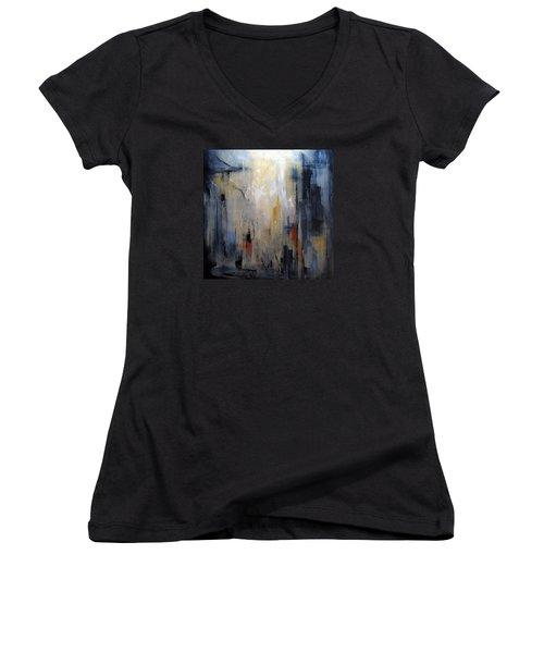 Travel Women's V-Neck T-Shirt (Junior Cut) by Roberta Rotunda