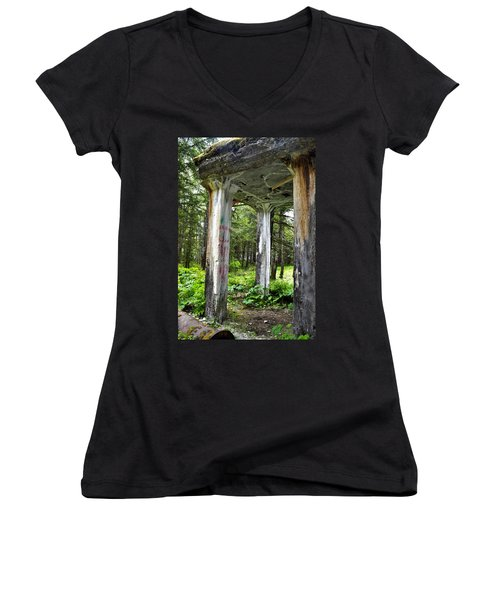 Treadwell Mine Building Women's V-Neck T-Shirt