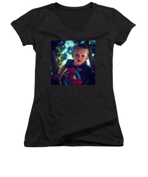 Tree Climbing Women's V-Neck T-Shirt