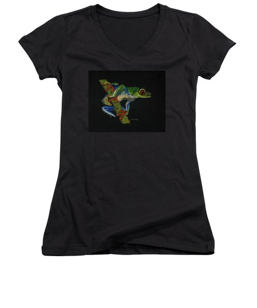 Tree Frog Women's V-Neck T-Shirt