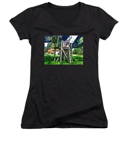 Tree House Women's V-Neck T-Shirt