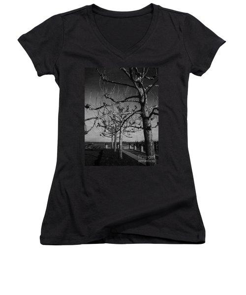 Tree In A Row  Women's V-Neck