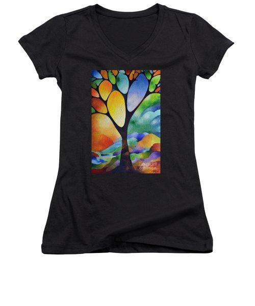Tree Of Joy Women's V-Neck T-Shirt