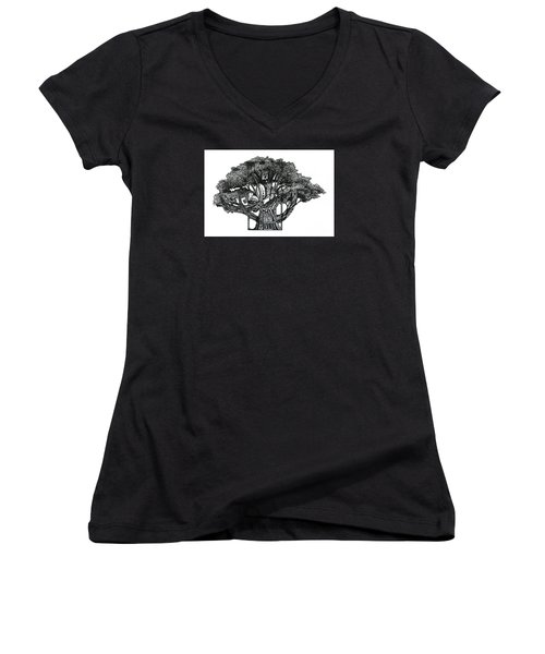 Tree Of Summer Women's V-Neck (Athletic Fit)