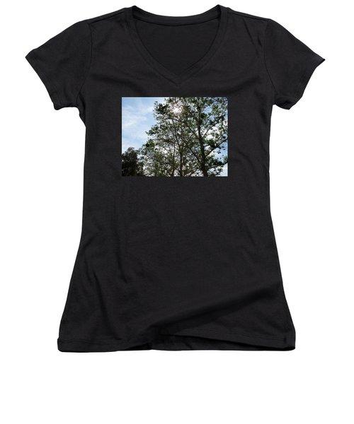 Trees At The Park Women's V-Neck T-Shirt