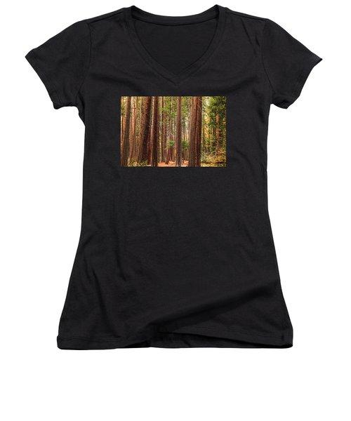 Trees Of Yosemite Women's V-Neck T-Shirt