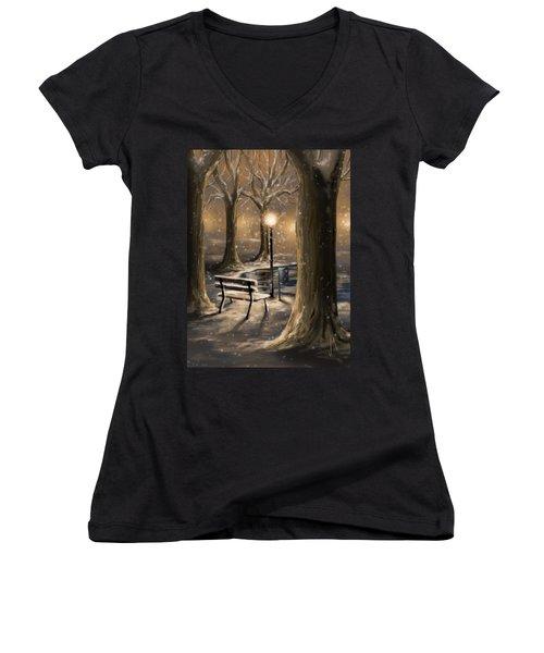 Trees Women's V-Neck T-Shirt (Junior Cut) by Veronica Minozzi