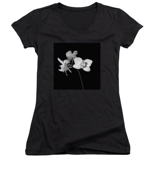 Women's V-Neck T-Shirt (Junior Cut) featuring the photograph Triplets by Ron White