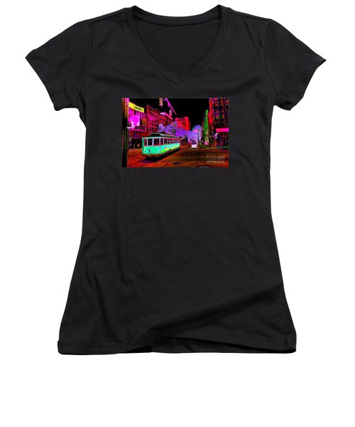 Trolley Night Women's V-Neck
