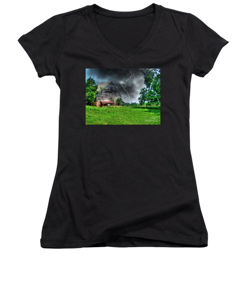 Trouble Brewing Women's V-Neck (Athletic Fit)