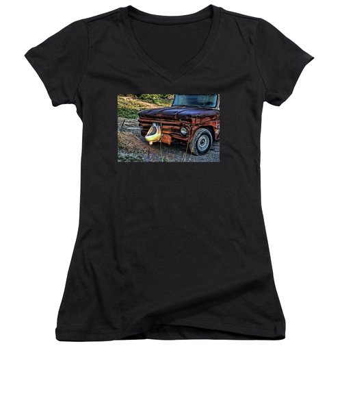 Truck With Benefits Women's V-Neck