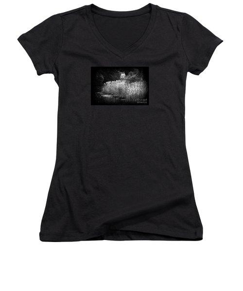 Women's V-Neck T-Shirt (Junior Cut) featuring the photograph True Beauty Home by Steven Macanka