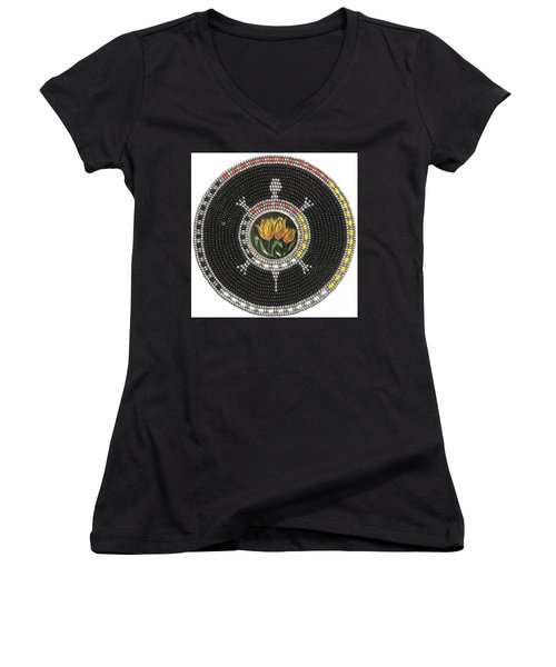 Tulip Turtle Women's V-Neck