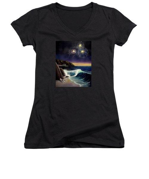 Twilight's Last Gleaming Women's V-Neck T-Shirt