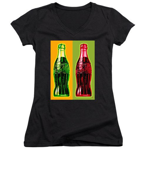 Two Coke Bottles Women's V-Neck (Athletic Fit)