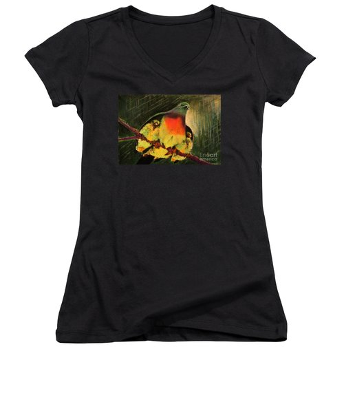 Under His Wings Women's V-Neck (Athletic Fit)