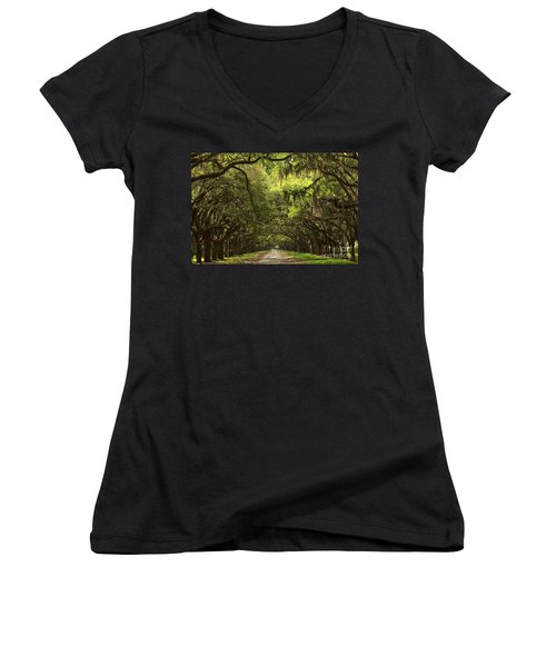 Under The Ancient Oaks Women's V-Neck (Athletic Fit)
