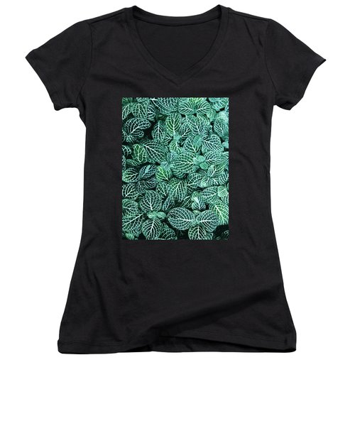 Ha Women's V-Neck T-Shirt (Junior Cut) by Julio Lopez