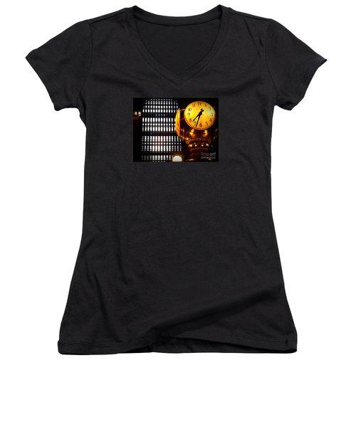 Under The Famous Clock Women's V-Neck T-Shirt