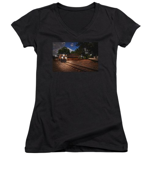Union Pacific 7917 Train Women's V-Neck T-Shirt
