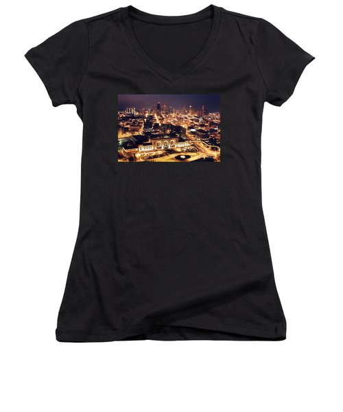 Union Station Night Women's V-Neck (Athletic Fit)