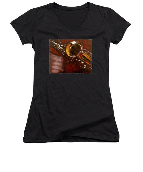 Unprotected Sax Women's V-Neck T-Shirt