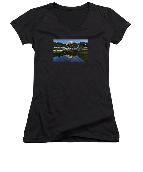 Untarnished View Women's V-Neck T-Shirt (Junior Cut) by Ryan Manuel