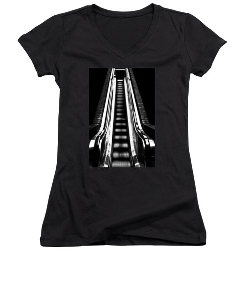 Up Or Down Women's V-Neck T-Shirt