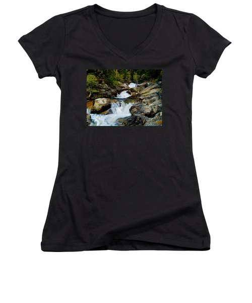 Up The Creek Women's V-Neck (Athletic Fit)