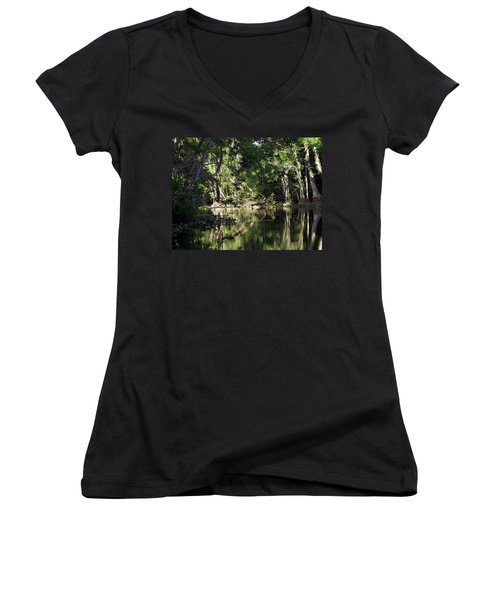Up The Lazy River  Women's V-Neck (Athletic Fit)