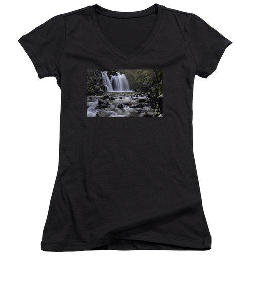 Upper Crystal Creek Falls  Women's V-Neck