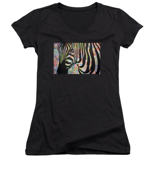 Urban Jungle Women's V-Neck T-Shirt (Junior Cut) by Amy Giacomelli