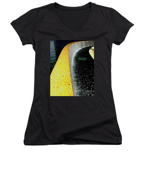Women's V-Neck T-Shirt (Junior Cut) featuring the photograph Urban Oasis by James Aiken