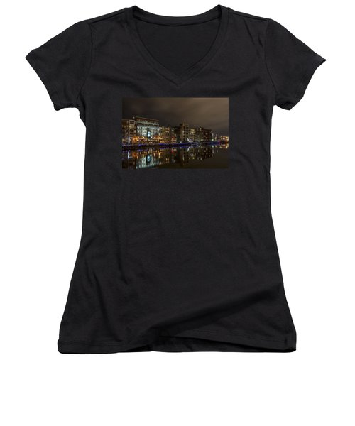 Urban River Reflected Women's V-Neck (Athletic Fit)