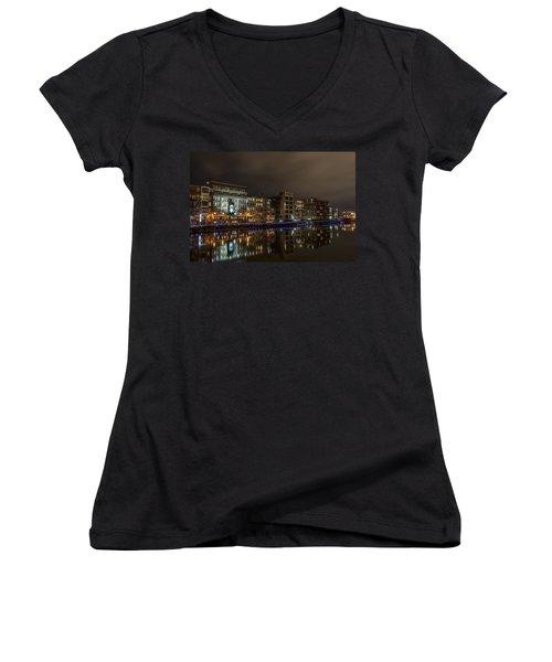 Urban River Reflected Women's V-Neck T-Shirt