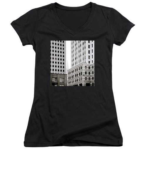 Urban San Francisco Women's V-Neck T-Shirt (Junior Cut) by Shaun Higson