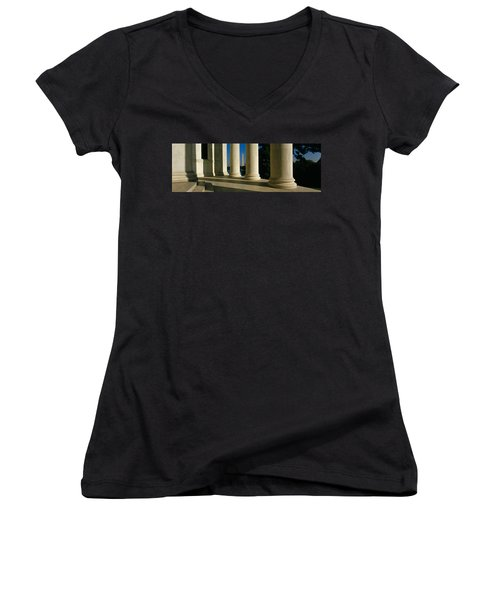 Usa, District Of Columbia, Jefferson Women's V-Neck T-Shirt (Junior Cut) by Panoramic Images