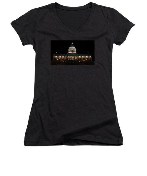 Utah State Capitol Front Women's V-Neck
