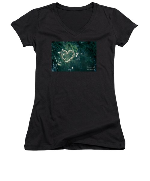 Valentine's Day In Nature Women's V-Neck T-Shirt (Junior Cut) by Andreas Levi