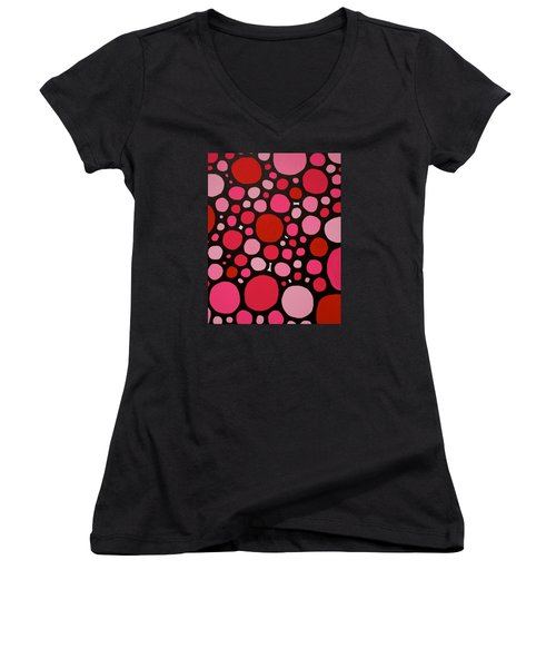 Valentines Day Women's V-Neck T-Shirt (Junior Cut) by Jeff Gater