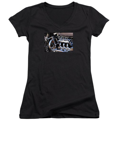 Valkyrie 2 Women's V-Neck T-Shirt (Junior Cut) by Wendy Wilton