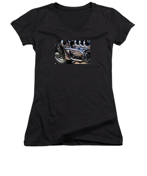 Valkyrie 1 Women's V-Neck T-Shirt (Junior Cut) by Wendy Wilton